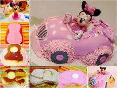 minnie mouse pull apart cake