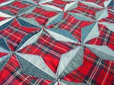 Flannel Quilts, Plaid Quilt, Star Quilts, Rag Quilt, Quilt Blocks, Denim Quilts, Red Flannel, Quilt Sets, Shirt Quilt