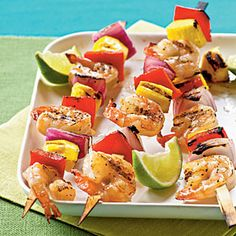 Mango Shrimp Kebabs | CookingLight.com
