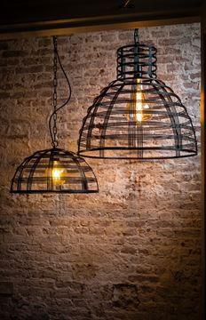 Hanglamp Molfetta mat zwart (1xE27) 70x61cm als je een mooie bijzondere hanglamp zoekt