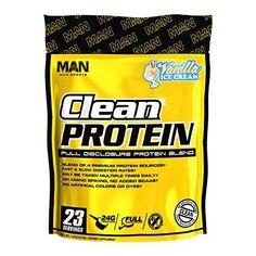 Man Sports Clean Protein Vanilla Ice Cream
