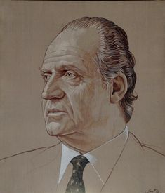 Retrato de Don Juan-Carlos I de Borbón y Borbón-Dos-Sicilias, Rey de España