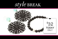STYLE BREAK! Get the Fab Filigree Set for $32. Today Only!The Deals just keep Coming ! 20% OFF everything thru 09-02-13 Click Here: https://commonsensejewelry.kitsylane.com/join/  Worlds Finest Jewelry at a Discounted price Come see the possibilities Saving Money means Better Living