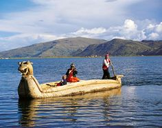 Lake Titicaca, Peru/Bolivia- I am absolutely in love with South American culture and this is the largest lake in S.A. It's also way up in the Andes Mountains and the people here have learned to use the lake's natural resources to make houses, boats, etc. So cool!