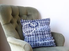 Black and White handwoven cushion.