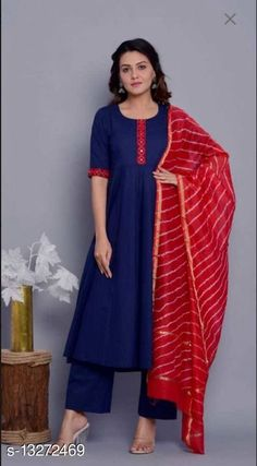 Kurta Sets Women Rayon A-line Solid Long Kurti With Palazzos Kurta Fabric: Rayon Bottomwear Fabric: Rayon Fabric: Rayon Sleeve Length: Three-Quarter Sleeves Set Type: Kurta With Bottomwear Bottom Type: Palazzos Pattern: Embroidered Multipack: Single Sizes: S (Bust Size: 38 in, Shoulder Size: 13.5 in, Kurta Waist Size: 36 in, Kurta Hip Size: 38 in, Kurta Length Size: 40 in, Bottom Waist Size: 32 in, Bottom Length Size: 40 in)  XL (Bust Size: 44 in, Shoulder Size: 15 in, Kurta Waist Size: 42 in, Kurta Hip Size: 44 in, Kurta Length Size: 46 in, Bottom Waist Size: 38 in, Bottom Length Size: 46 in)  L (Bust Size: 42 in, Shoulder Size: 14.5 in, Kurta Waist Size: 40 in, Kurta Hip Size: 42 in, Kurta Length Size: 44 in, Bottom Waist Size: 36 in, Bottom Length Size: 44 in)  M (Bust Size: 40 in, Shoulder Size: 14 in, Kurta Waist Size: 38 in, Kurta Hip Size: 40 in, Kurta Length Size: 42 in, Bottom Waist Size: 34 in, Bottom Length Size: 42 in)  XXL (Bust Size: 38 in, Shoulder Size: 15.5 in, Kurta Waist Size: 36 in, Kurta Hip Size: 38 in, Kurta Length Size: 40 in, Bottom Waist Size: 32 in, Bottom Length Size: 40 in)  Country of Origin: India Sizes Available: S, M, L, XL, XXL   Catalog Rating: ★4 (427)  Catalog Name: Women Rayon A-line Solid Long Kurti With Palazzos CatalogID_2597715 C74-SC1003 Code: 336-13272469-1761
