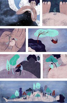 My latest crush: magical illustrations by Brooklyn based artist Beatriz Gutierrez.