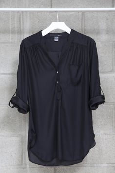 Black roll up blouse, $31