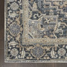 kathy ireland Home Moroccan Celebration Navy/Beige/Ivory Indoor Area Rug - X Blue/Beige/Ivory Ireland Homes, Kathy Ireland, Rectangular Rugs, Rug Material, Cool Rugs, Small Rugs, Power Loom, Beige Area Rugs, Abstract Pattern