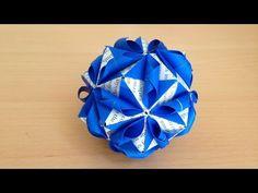 折り紙 くす玉 白波 折り方 Origami Kusudama wave 30units - YouTube