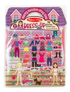 Melissa & Doug Puffy Sticker Play Set, Dress-up (Reusable Activity Book, 76 Stickers, Great for Travel), Multicolor Kids Dress Up, Dress Up Dolls, Up Theme, Melissa & Doug, Cool Stickers, Decorative Stickers, Book Activities, A Boutique, Bunt