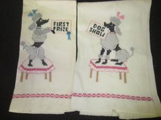Vintage 1960s hand sewn embroidered knit pair of by kookykitsch, $21.00