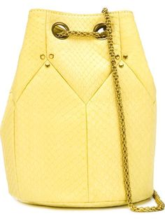 JÉRÔME DREYFUSS Drawstring Cross-Body Bag. #jérômedreyfuss #bags #shoulder bags #leather
