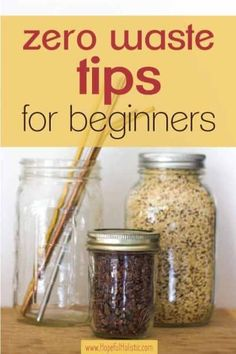 The best zero waste tips for beginners and zero waste products to start out with if you're interested in beginning zero waste- learn about what not to buy and the best place to start when going zero waste here! Cheap Clean Eating, Clean Eating Snacks, Eco Friendly Cleaning Products, Waste Reduction, Cacao Nibs, Natural Living, Organic Living, Simple Living, Sustainable Living