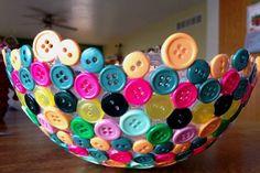 Buttons Into A Unique Bowl4 Wonderful DIY Cute Button Bowl
