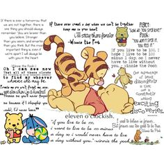 Winnie the Pooh and friends quotes Winnie The Pooh Tattoos, Winnie The Pooh Quotes, Winnie The Pooh Friends, Eeyore, Tigger, Pooh Baby, Favorite Quotes, Best Quotes, Favorite Things