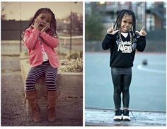 Cute stylish kid