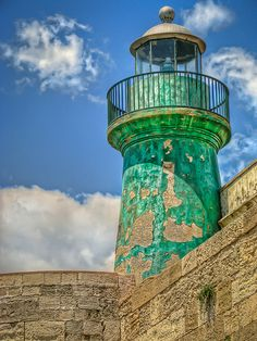 Lighthouse Castello Maniace, Italy