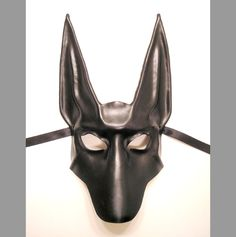 Черный Шакал кожи маска Анубиса египетского собаки teonova