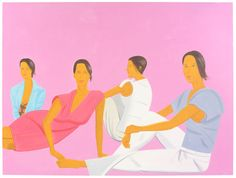 "softpyramid: "" Alex Katz Four women in pink 2005 """