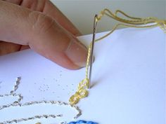 Many embroidery stitches take just as well to paper as they do to cloth. This tutorial shows you how to stitch up a pretty card for a special occasion.