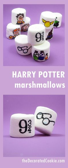 Harry Potter marshmallows -- how to use food writers