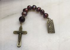 Garnet and Pearls Anglican Chaplet  Protestant Prayer Beads    Garnet Chaplet   Pearl Chaplet Episcopal Prayer Beads  Loaves and Fishes