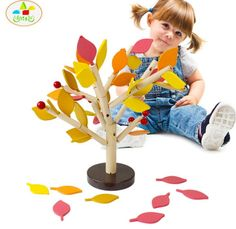 Assembled Tree Wood Green Leaves Building Montessori Wooden Toys Chopping Block Early Educational Toy Children Learning Toy  Price: 9.99 & FREE Shipping #computers #shopping #electronics #home #garden #LED #mobiles #rc #security #toys #bargain #coolstuff |#headphones #bluetooth #gifts #xmas #happybirthday #fun