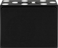 kate spade new york - Portable Bluetooth Speaker - Black/Cream Dots