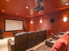 Theater room by Cameo Homes Inc.