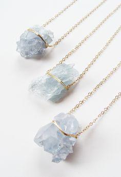 Aquamarine cluster necklaces by #Friedasophie  http://www.friedasophie.com