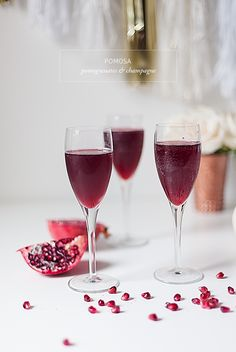 Pomosa - pomegranates and champagne / best beverage for Sunday brunch /
