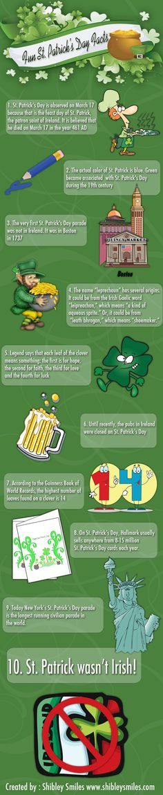 10 Fun Facts about St. Patrick's Day | Shibley Smiles