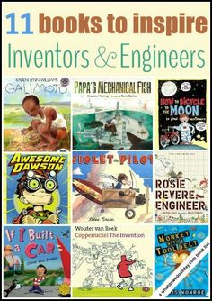 STEM books. Picture books about inventions. Is your child a budding engineer or inventor?