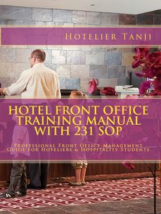 Get Hotel Front Office Training Manual: http://www.hospitality-school.com/training-manuals/front-office  1- Most unique front office training manual in the market.  2- 231 Professionally written Hotel Front Office Standard Operating Procedures (SOP) collection.  3- 254 page full of content.  4- Highly recommended for professional front office staffs in hotel or restaurant and hotel management students.  5- No practical experience needed
