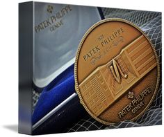 "Patek Philippe Geneve Commemorative Medal Coin $62 // Style: Soft Edge Canvas Print; Size: Petite 8"" x 10"" // Visit http://www.imagekind.com/Patek-Philippe-Geneve-PPG_art?IMID=1f63993e-3b0d-4b44-8521-e4fef1f8974d for product details."