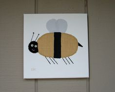 Bee #2 Fabric Wall Art by CottonwoodCove on Etsy