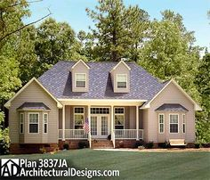 Rustic Angled Ranch Home Plan - 3877JA | Mountain, Ranch, 1st Floor Master Suite, CAD Available, Jack & Jill Bath, MBR Sitting Area, PDF, Split Bedrooms, Corner Lot | Architectural Designs