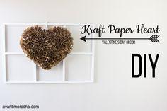 DIY Kraft Paper Heart