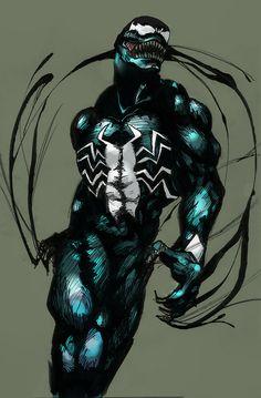 Venom is Spider-Man's villain, so it deserves its right on his board! Venom Spiderman, Marvel Venom, Marvel Art, Marvel Dc Comics, Marvel Heroes, Anime Comics, Batman, Comic Book Characters, Comic Book Heroes