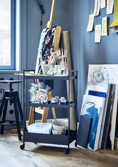 The IKEA Catalog 2020 is filled with smart and stylish design ideas Extra Storage Space, Storage Spaces, Catalogue Ikea, Utility Cart, Small Space Solutions, Swedish House, Living Room Remodel, Blue Walls, Quality Furniture