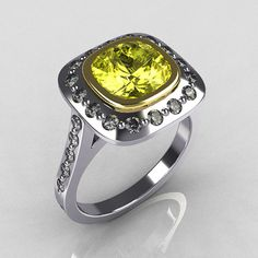 Classic Legacy Style Two Tone 14K White Yellow Gold by artmasters
