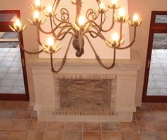 STONECAST CUSTOM FIREPLACES | StoneCast Decor, Concrete, Concrete Fireplace, Custom Fireplace, Ceiling Lights, Ceiling, Home Decor, Chandelier, Fireplace