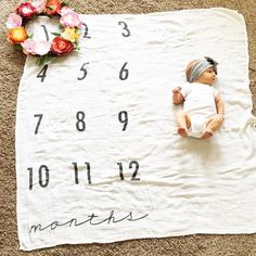 Monthly baby picture blanket
