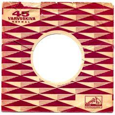 Swedish hmv record company sleeve. nice geometric pattern.