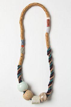 Agassiz Ceramic Necklace  #anthropologie