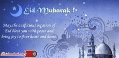 May God give you happiness of heaven above. Happy Eid Mubarak To You All.