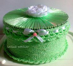 Cd's que se transformam em porta joias #crochê #crochet #portajoia #caixacrochê #cd #reciclagem
