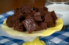 2 Ingredient Fudge - who knew it could be this easy?