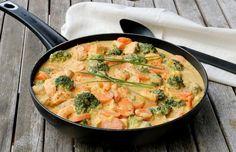 Scampi, Thai Red Curry, Quinoa, Ethnic Recipes, Sun